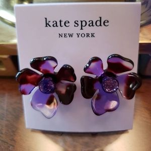 NWT Kate Spade Petal Pusher Earrings